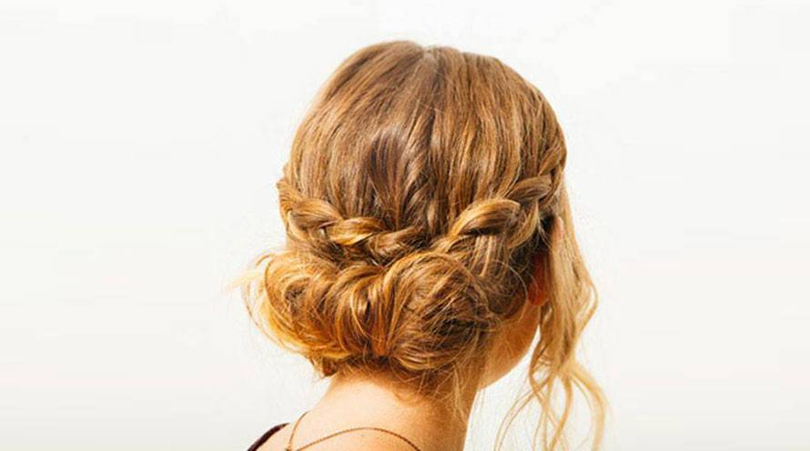 Garnier Hair Style Curly Hair Braided Up do