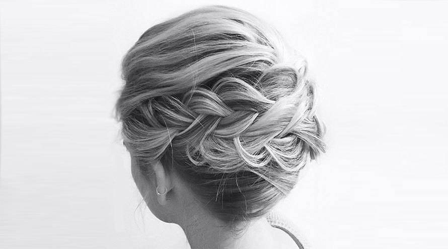 Garnier Hair Style Curly Hair Braid up do