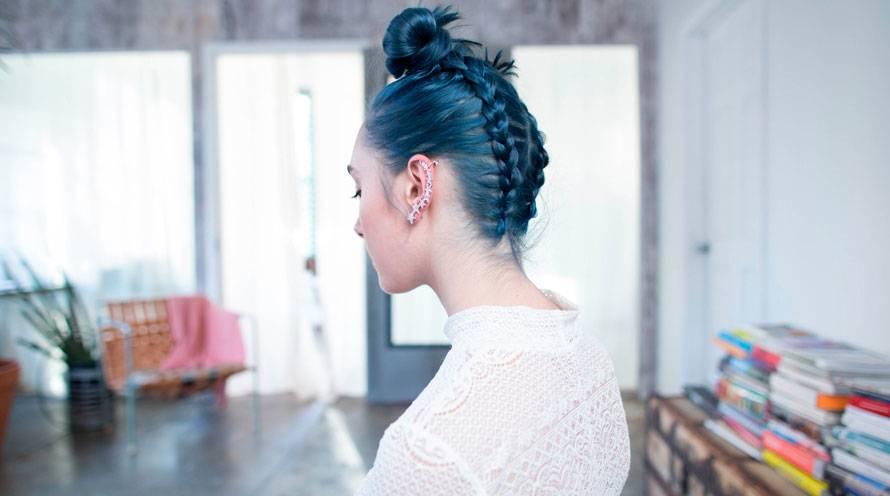 Blue Hairstyles Blue Hair Color Hair Dye Ideas Garnier