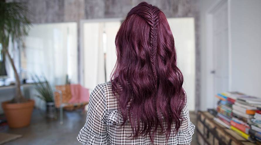 Garnier The Best Shades for Bold Hair Color Violet Hair Color Example