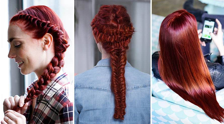 Red Hair Color Shades Light Dark Auburn To Burgundy Hair Garnier