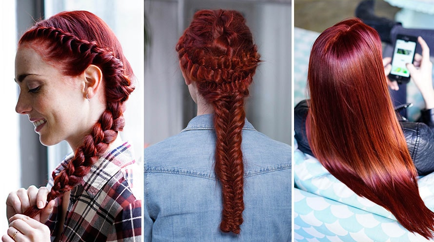 Red Hair Color Shades Light Dark