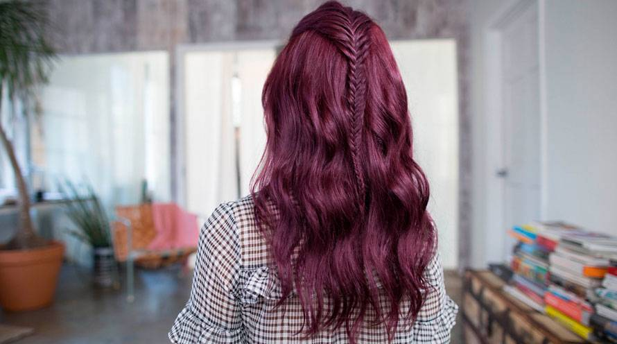 Garnier Hair Color Example Long Purple Hair with Braid Hair Style Ideas
