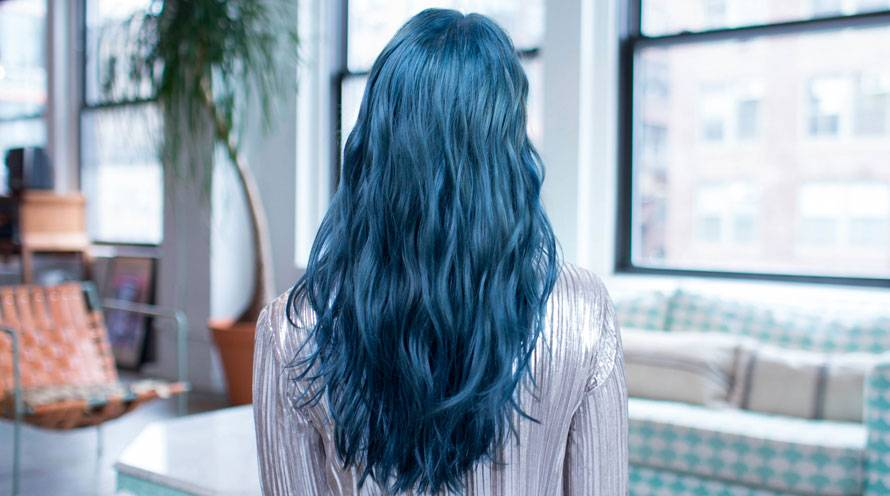 Garnier Hair Color Example Long Blue Hair