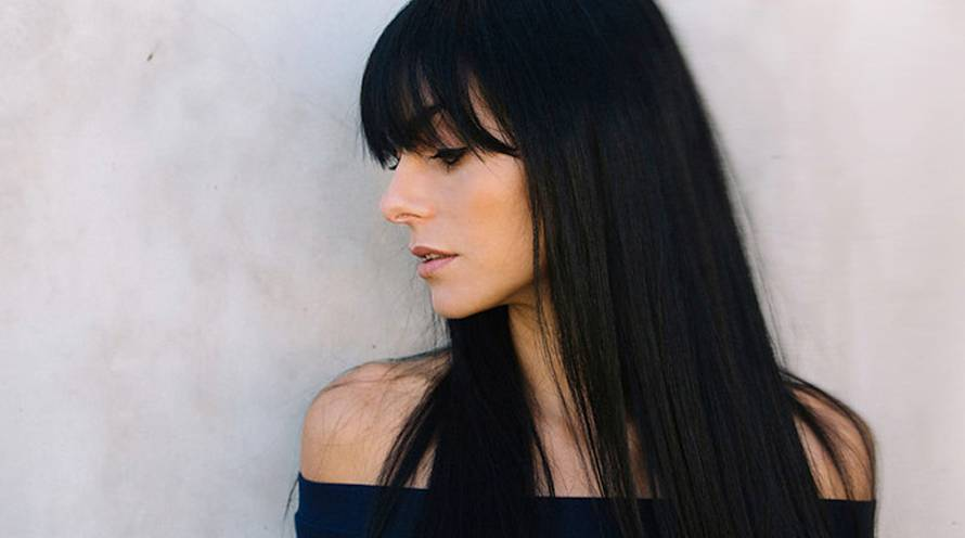 Garnier Hair Color Olia Example Woman with Dark Brown Healthy Hair