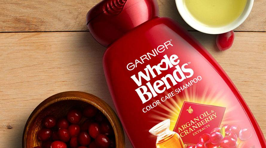 Garnier Whole Blends Color Care Shampoo Argon Oil Cranberry