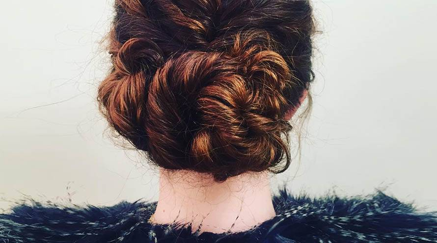 Garnier Fructis - bun hairstyles for any length layered bun, half-up topknot, loose braided bun