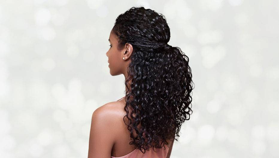 Garnier Hairstyle curly half up braids