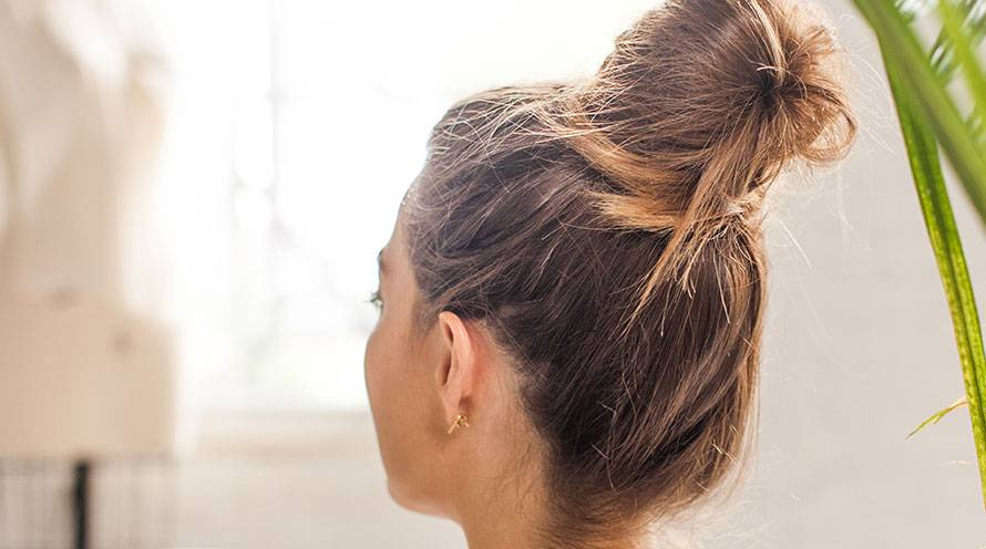 Garnier long hairstyles for women high top knot