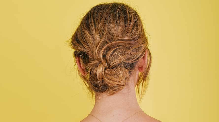 Garnier Hairstyle Knotted Low Bun Hairstyle