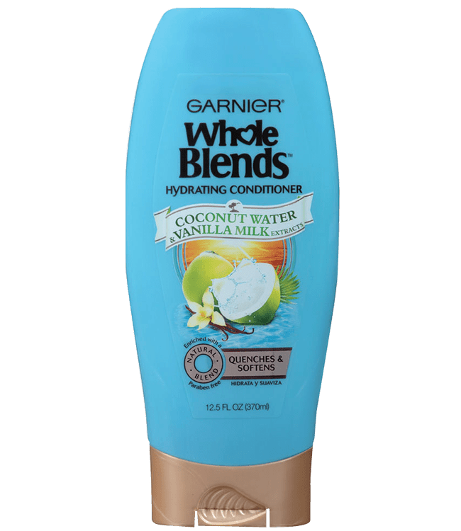 Garnier Whole Blends Coconut Water & Vanilla Milk Hydrating Conditioner 12.5 for De-hydrated Hair