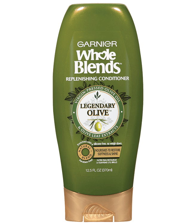 Garnier Whole Blends Olive Replenishing Conditioner with Olive Oil & Olive Leaf extracts 12.0 oz