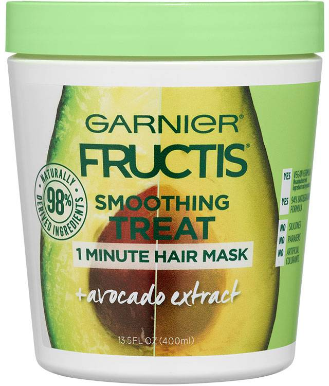 Garnier Fructis Smoothing Treat 1 Minute Hair Mask + Avocado Extract 400ml