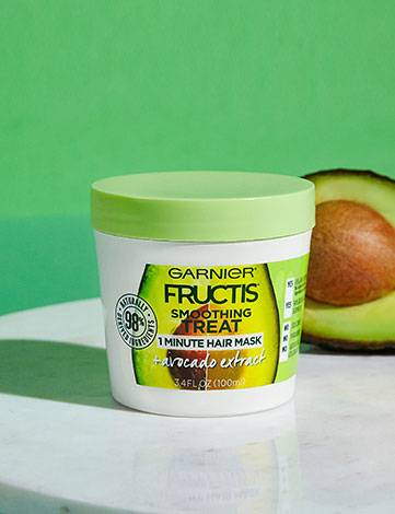 Garnier Fructis Smoothing Treat 1 Minute Hair Mask + Avocado Extract with Ingredient