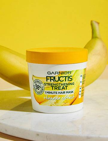 Strengthening Treat 1 Minute Hair Mask + Banana Extract with ingredient