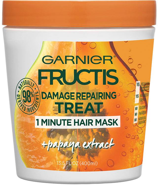 Garnier Fructis Damage Repairing Treat 1 Minute Hair Mask + Papaya Extract 400ml