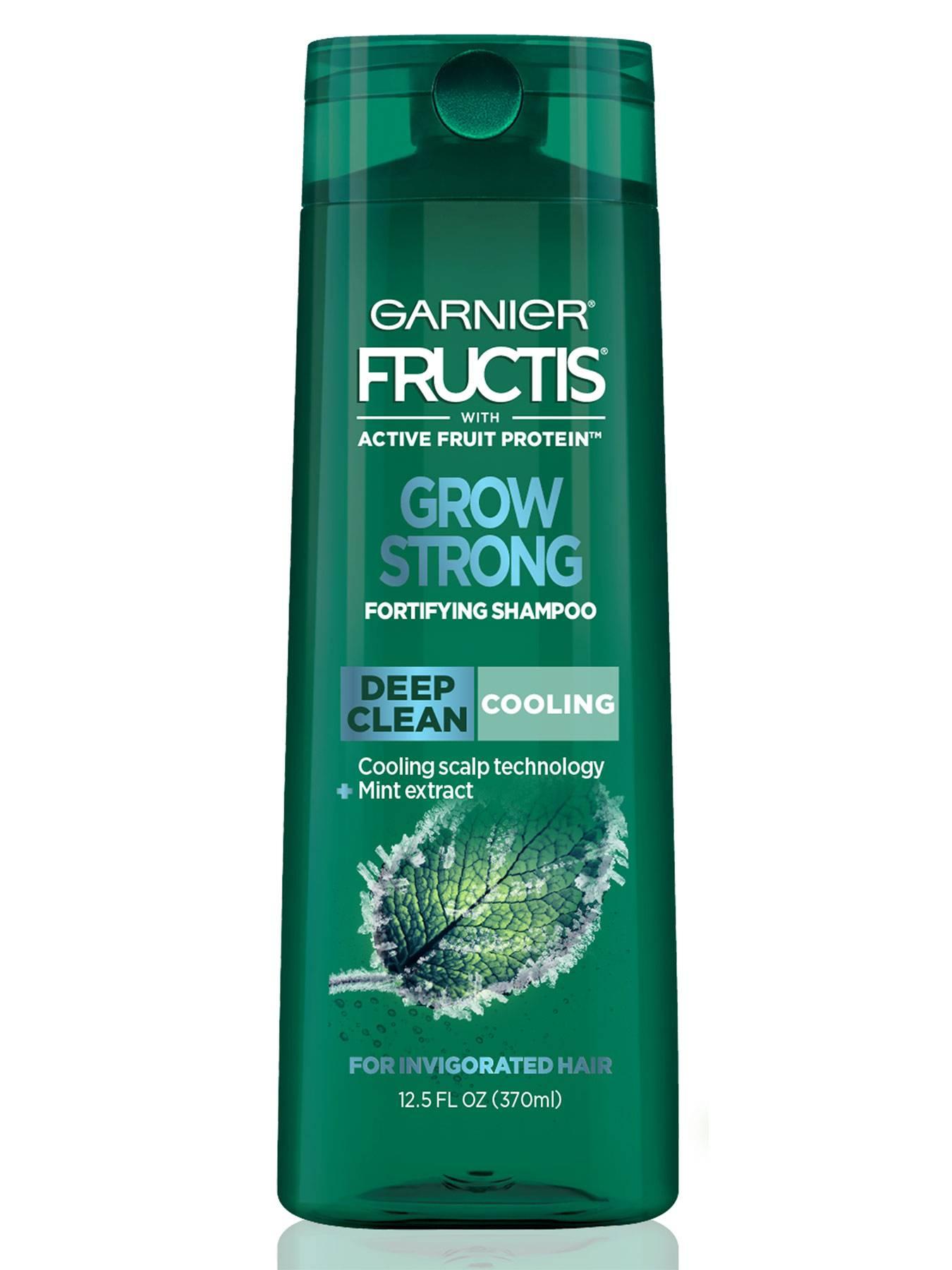 Fructis Grow Strong Cooling S Deep Clean Shampoo For Men Garnier