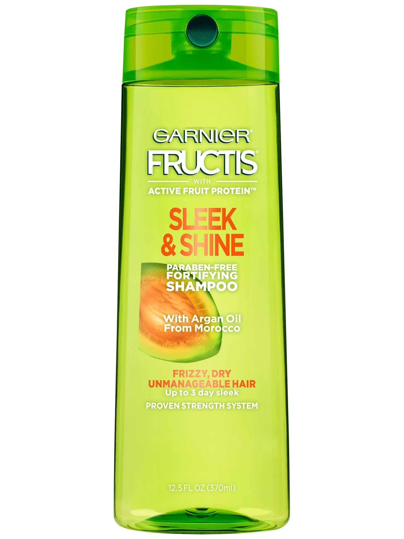 sleek and shine shampoo frizzy hair care garnier fructis