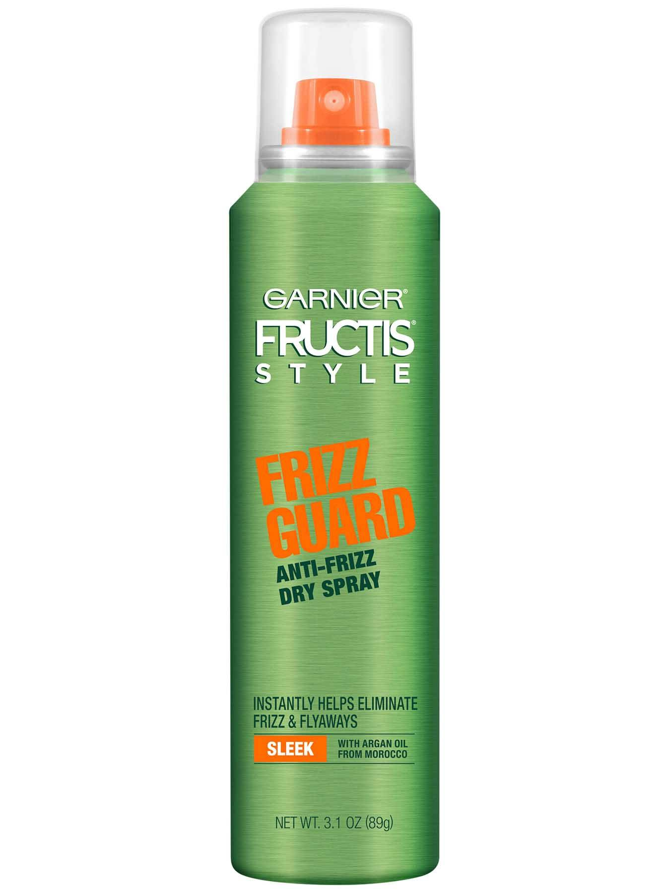 Garnier Fructis Style Sleek & Shine Frizz Guard Anti-Frizz Hairspray 3.1 oz - Hair Style Product for Frizzy  - Hair Style productHair