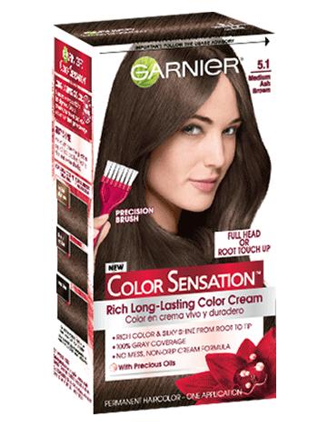 Color Sensation 5 1 Medium Ash Brown Hair Color Garnier