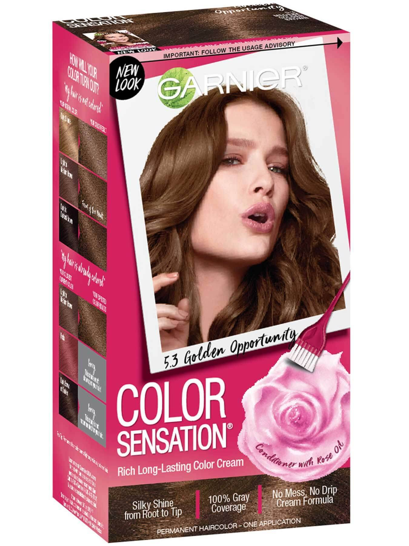 Color Sensation 5 3 Medium Golden Brown Hair Color Garnier