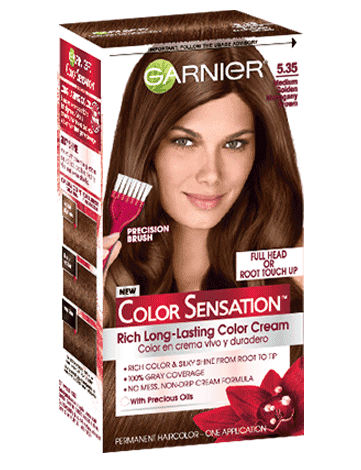 Garnier Color Sensation 5.35 - Medium Golden Mahogany Brown Permanent Hair Color