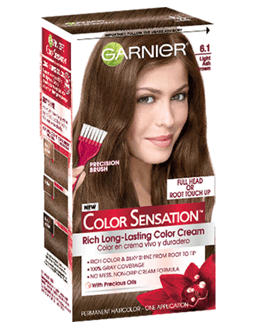 Garnier Color Sensation 6.1 - Light Ash Brown Permanent Hair Color