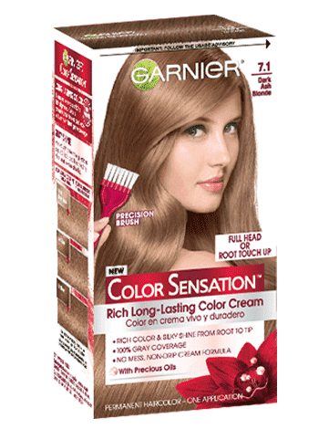 Garnier Color Sensation 7.12 - Dark Ash Blonde Permanent Hair Color