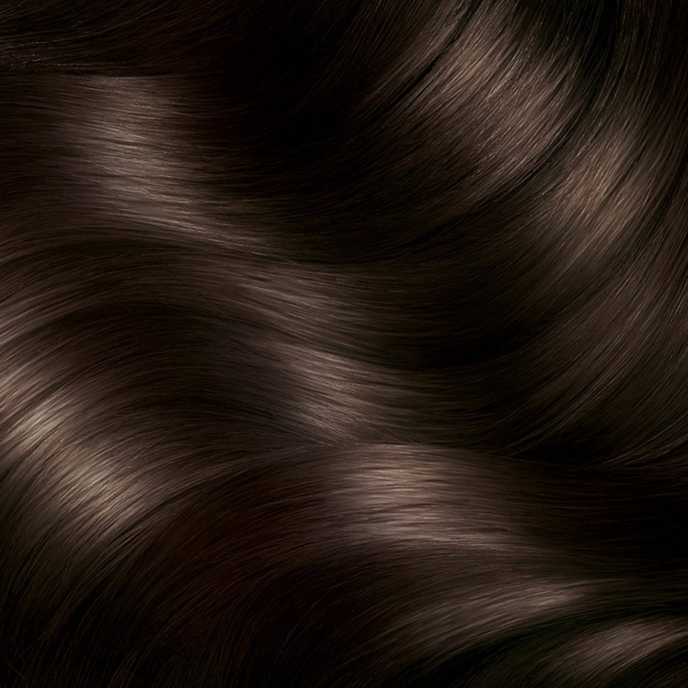 Hair Swatch of Express Retouch Dark Brown.