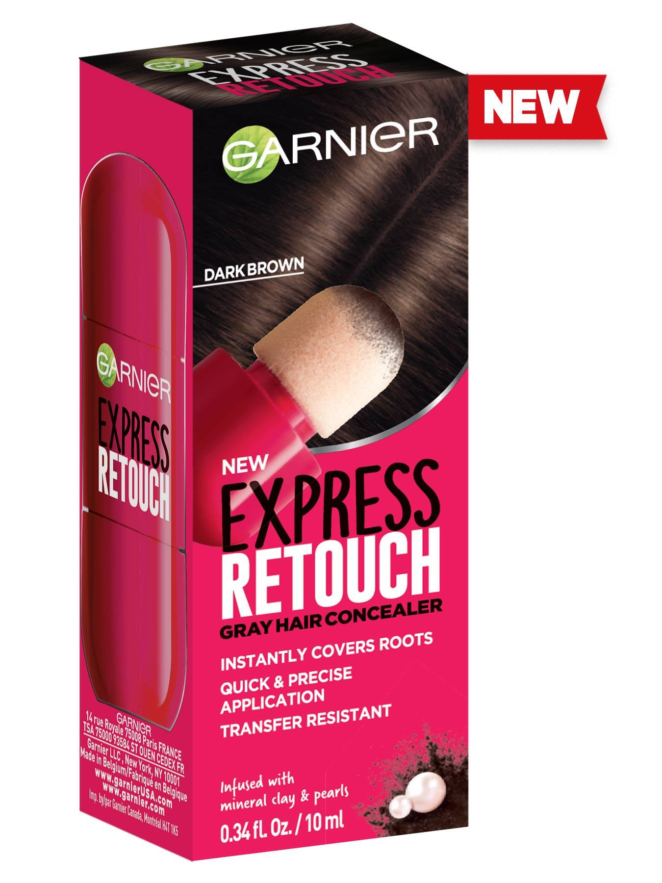 Front view of Express Retouch Dark Brown.