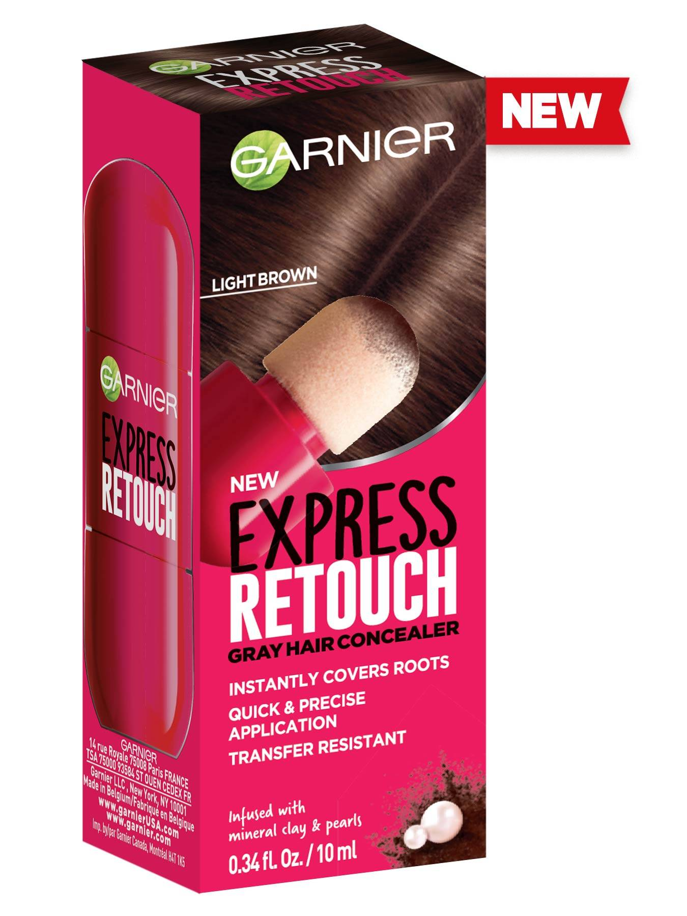 Front view of Express Retouch Light Brown.