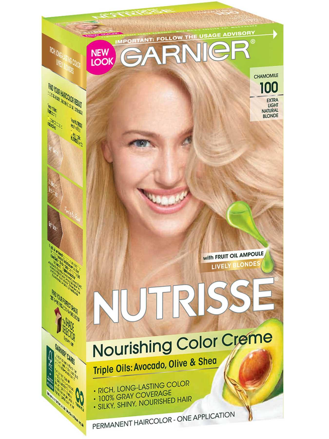 Nourishing Color Creme Extra-Light Natural Blonde 100 (Chamomile).