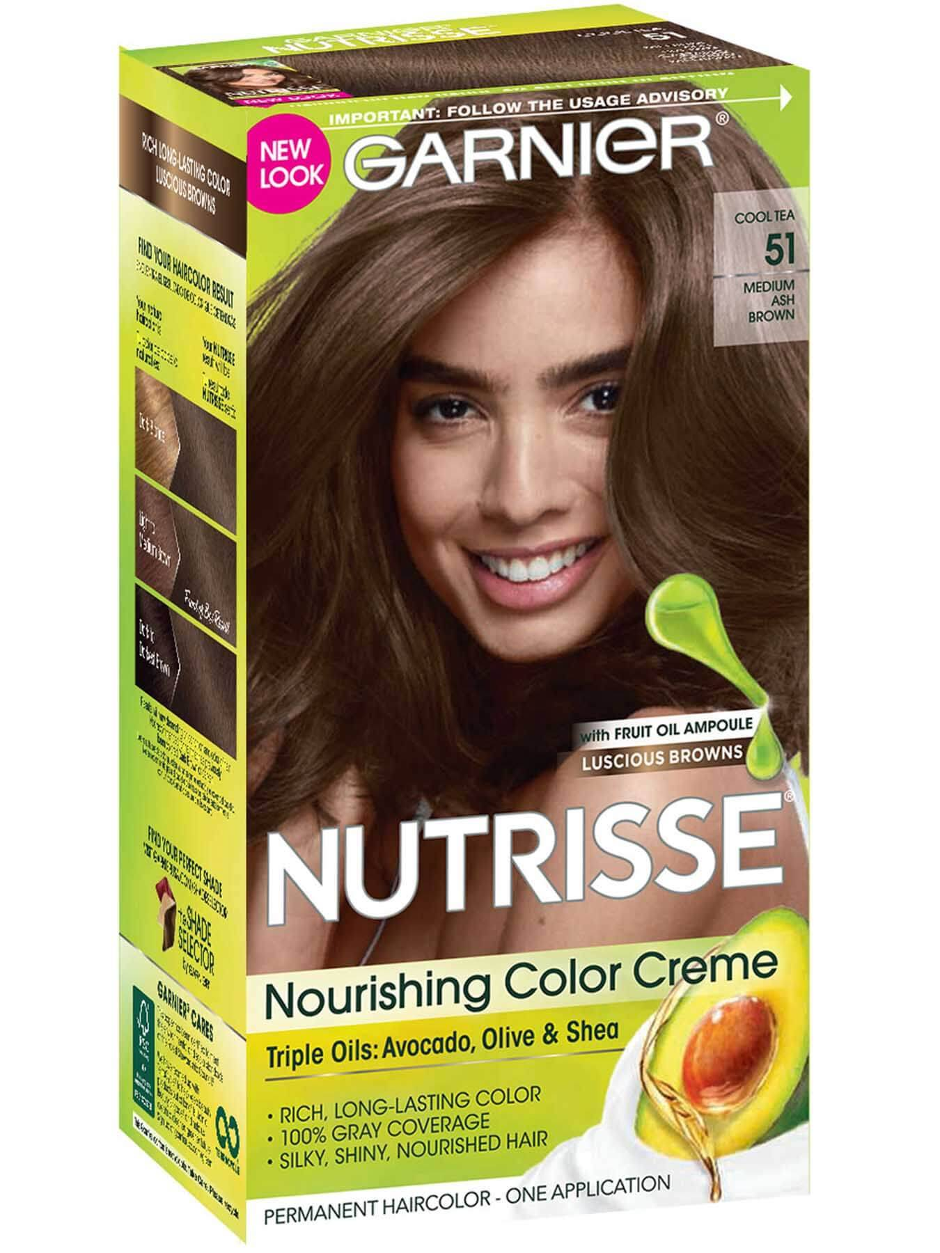 Nutrisse Nourishing Color Creme Medium Ash Brown 51 Garnier