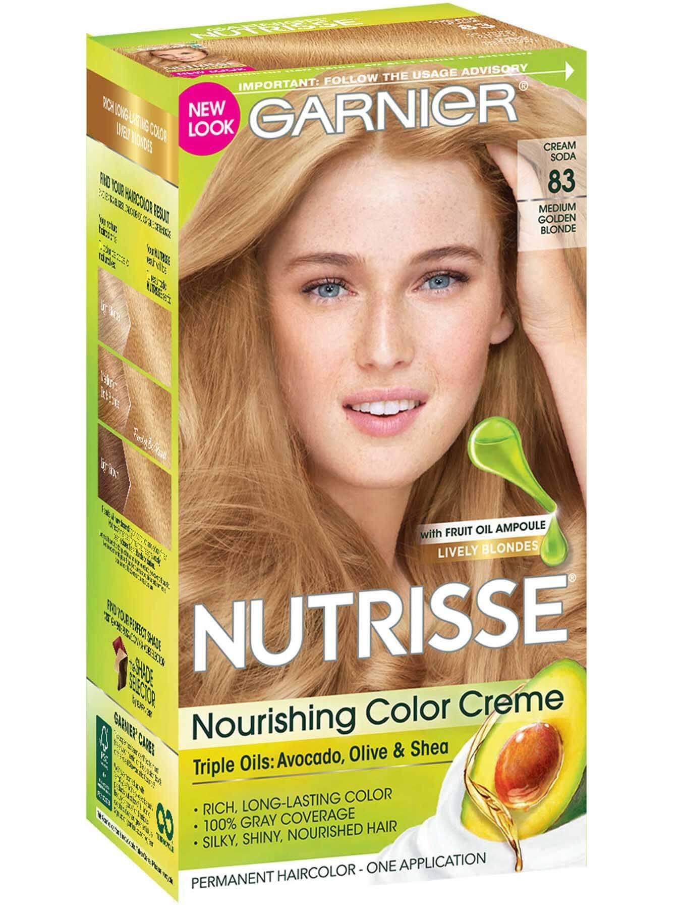 Nutrisse Nourishing Color Creme Medium Golden Blonde 83 Garnier