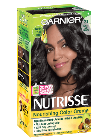 Garnier Nutrisse Nourishing Color Creme 31 - Darkest Ash Brown Permanent Hair Color