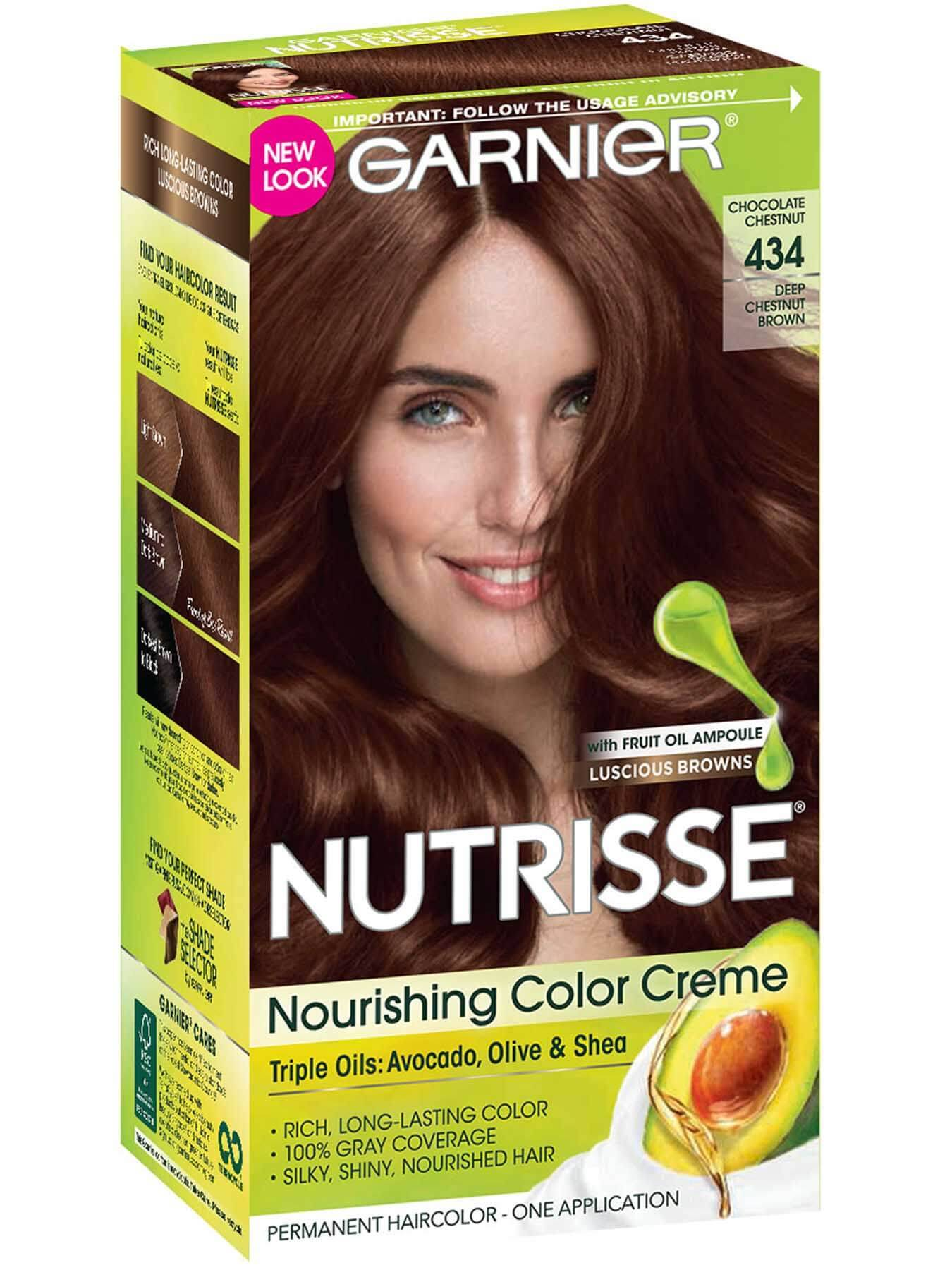 Nutrisse Nourishing Color Creme Deep Chestnut Brown 434 Garnier