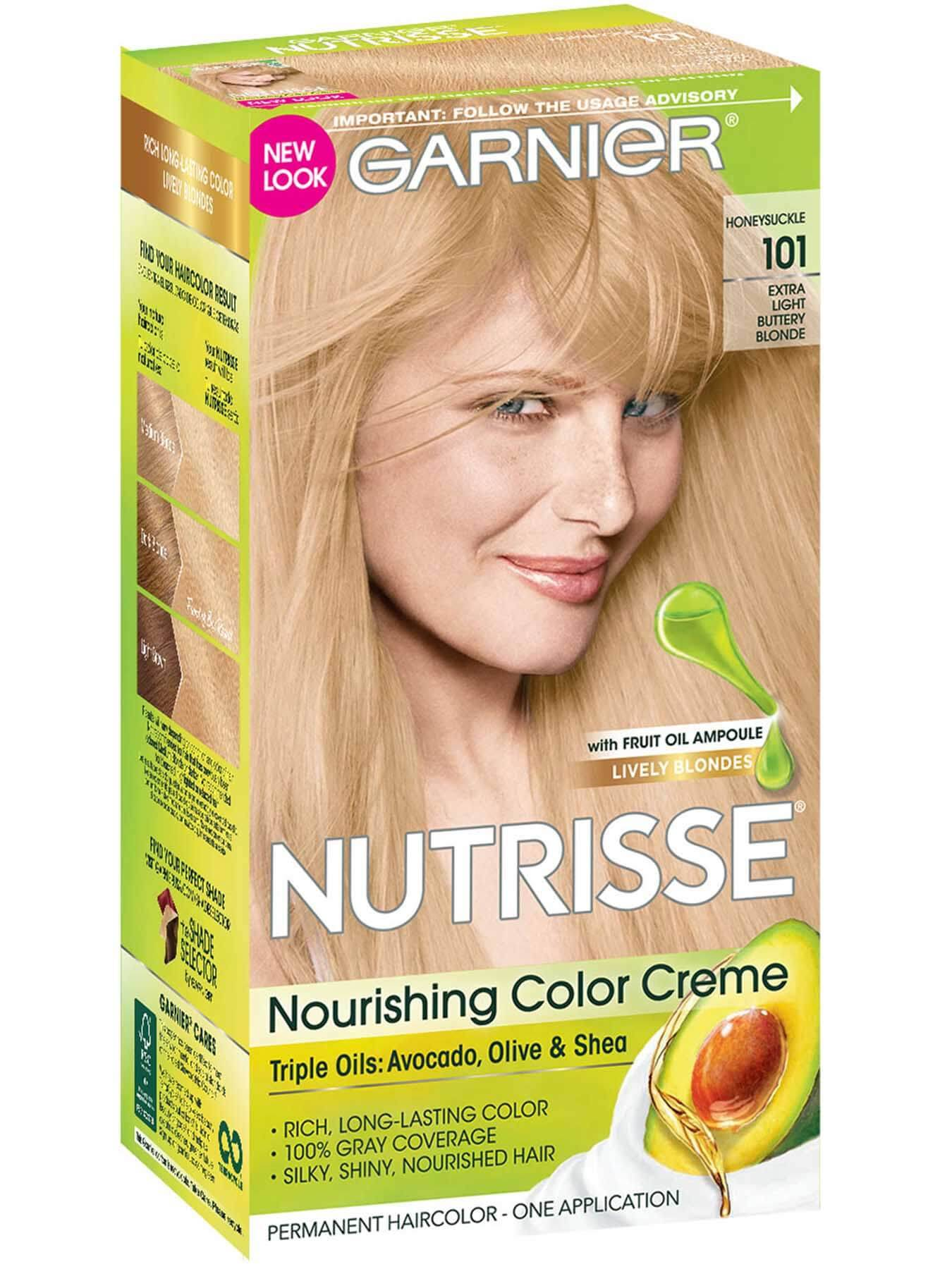Front view of Nourishing Color Crème 101 - Extra Light Buttery Blonde.