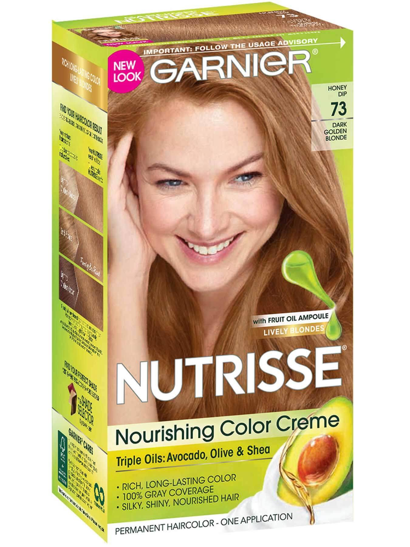 Nutrisse Nourishing Color Creme Dark Golden Blonde 73 Garnier