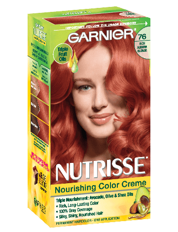 Garnier Nutrisse Nourishing Color Creme 76 - Rich Auburn Blonde (Hot Tamale) Permanent Hair Color