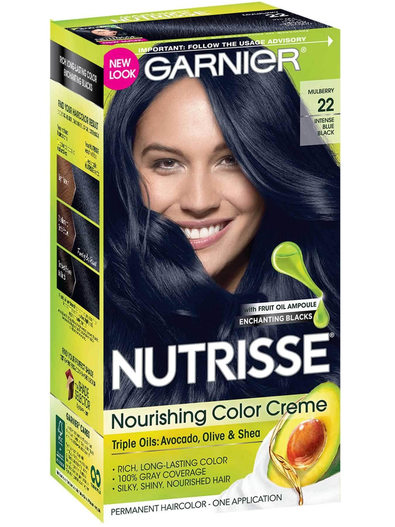 Nourishing Color Creme 22 Intense Blue Black Hair Color Garnier