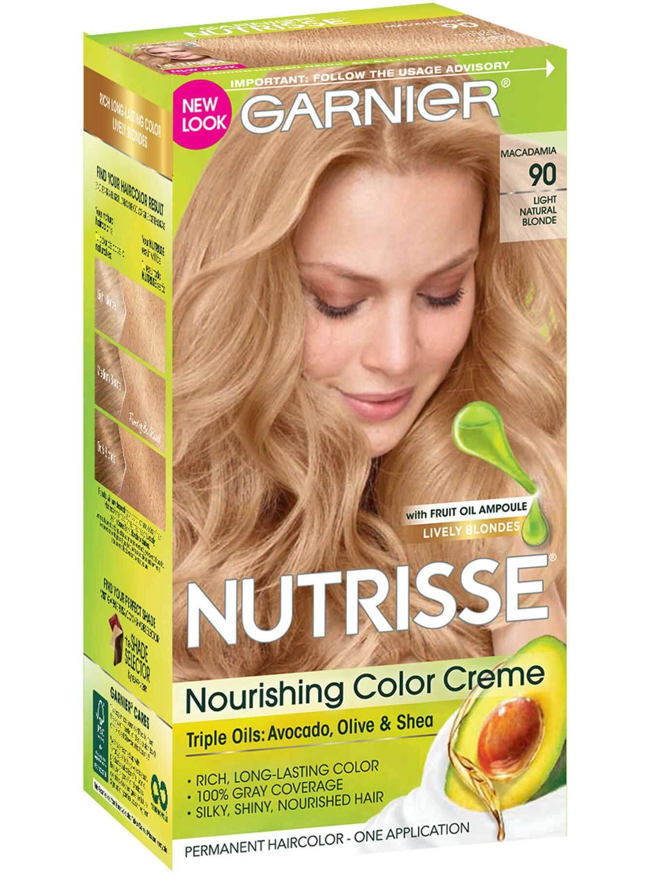 Front view of Nourishing Color Creme Light Natural Blonde 90 (Macadamia).