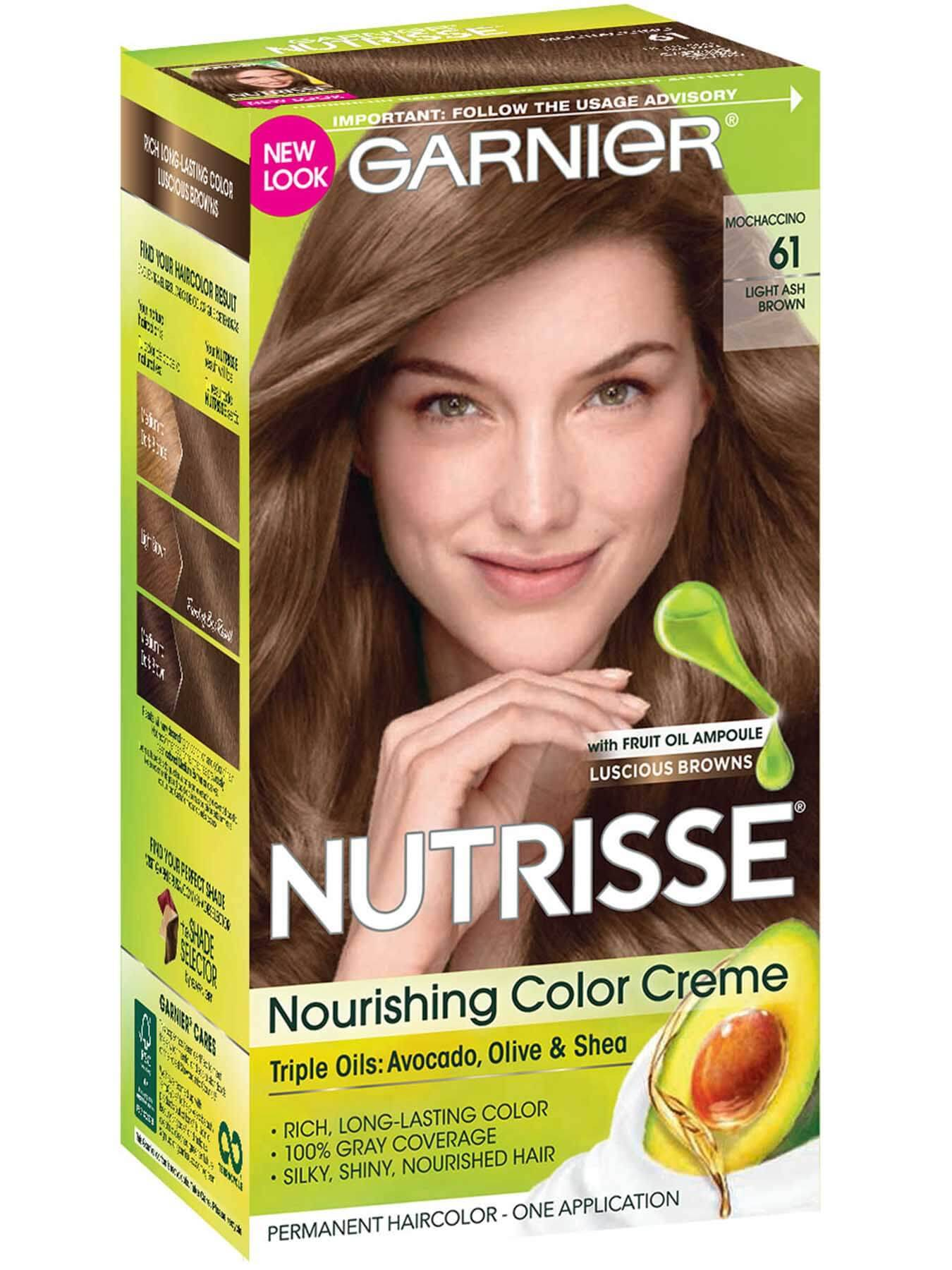 Nutrisse Nourishing Color Creme Light Ash Brown 61 Garnier