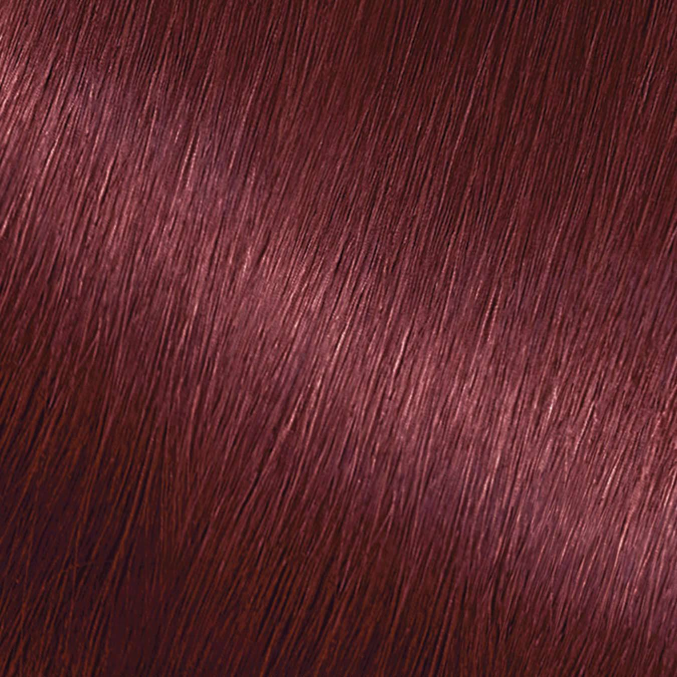 Hair Swatch of Nutrisse Crème 52 - Strawberry Jam.
