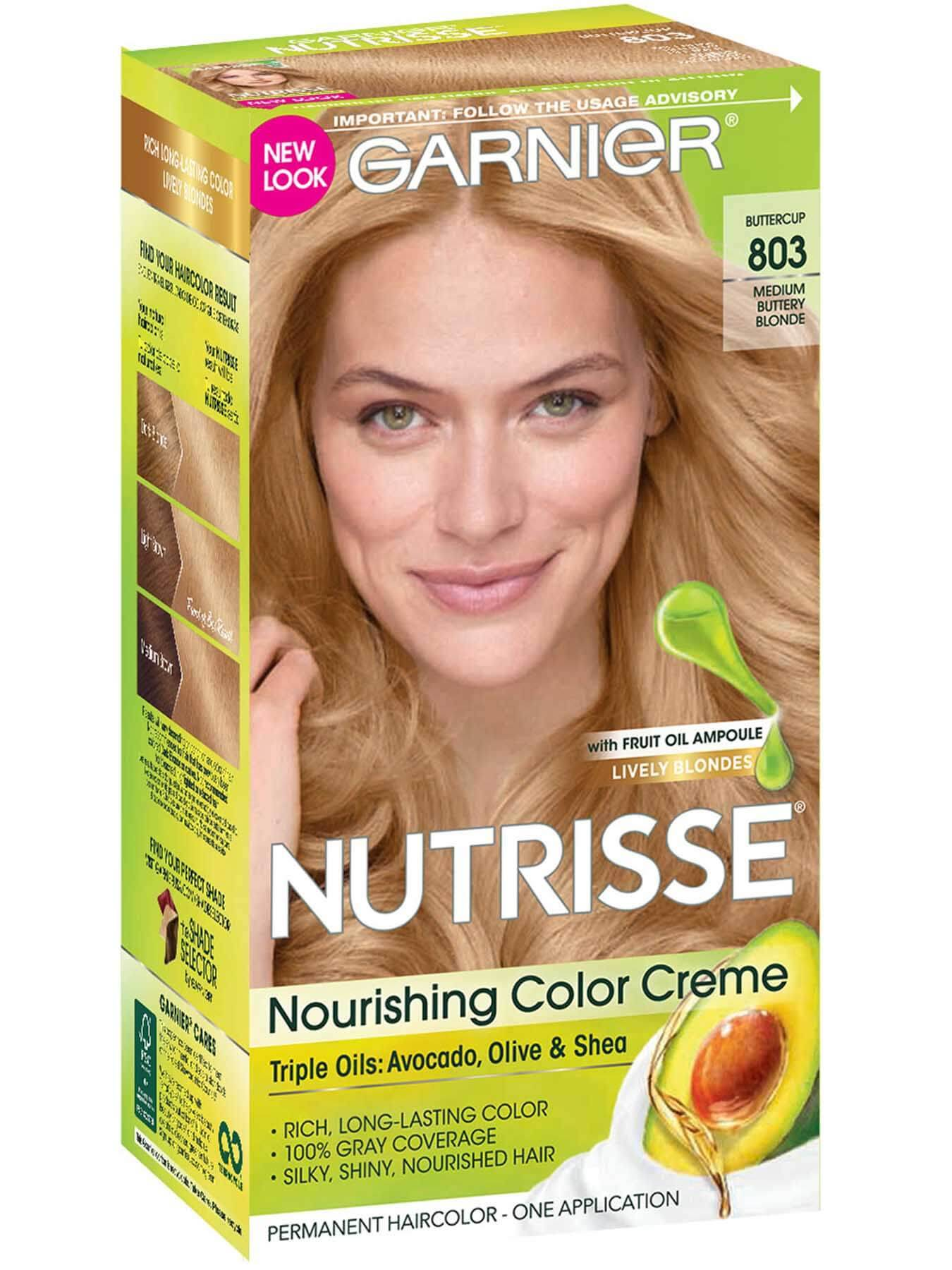 Front view of Nourishing Color Creme 803 - Medium Buttery Blonde.