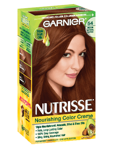 Garnier Nutrisse Nourishing Color Creme 54 - Medium Natural Copper Permanent  Hair Color