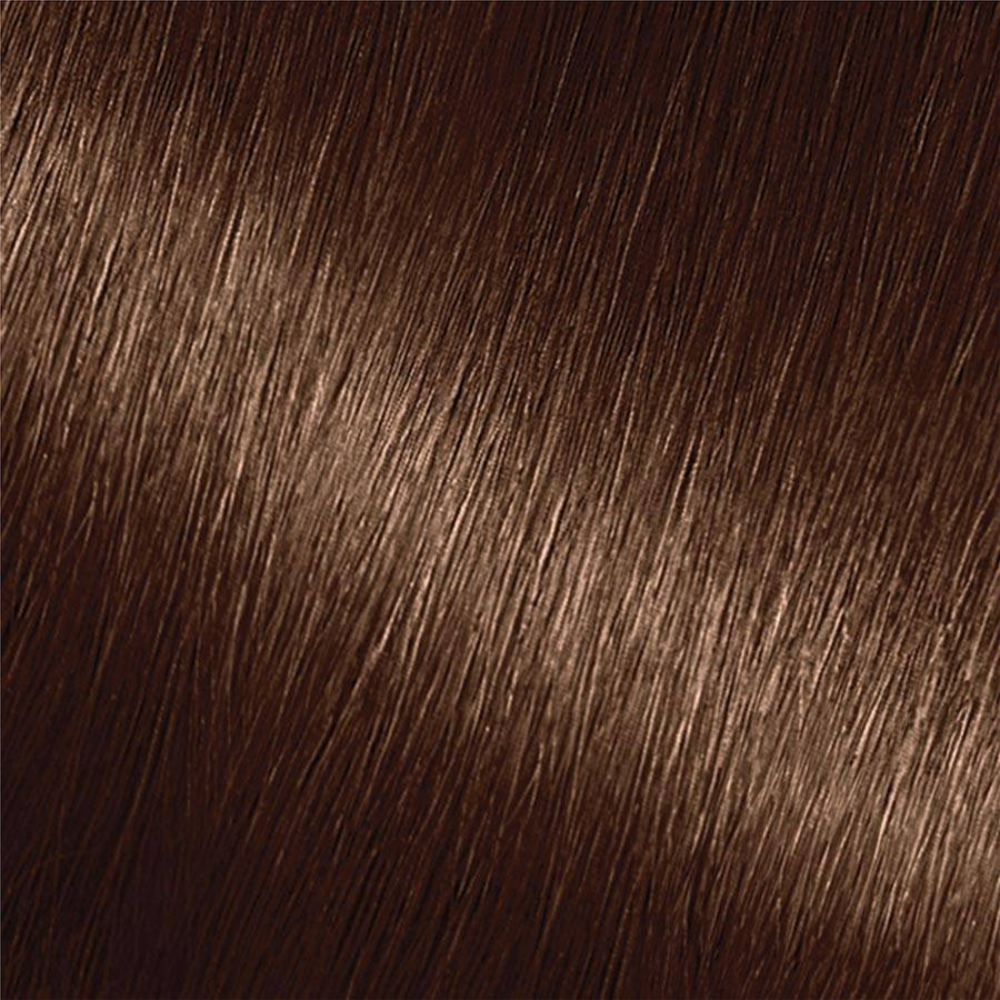 Garnier Nutrisse Nourishing Color Creme 513 - Medium Nude Brown Permanent Hair Color Swatch