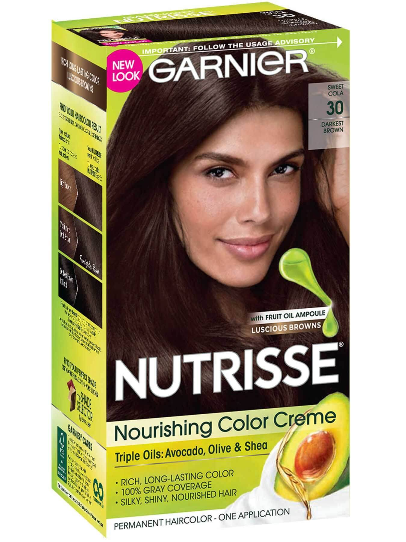 Nutrisse Nourishing Color Creme - Darkest Brown 30 - Garnier