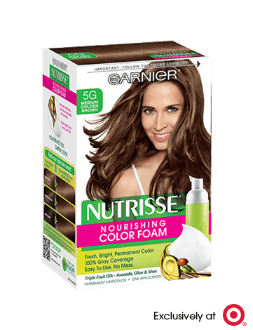 Garnier Nutrisse Nourishing Color Foam 5G - Medium Golden Brown Permanent Hair Color