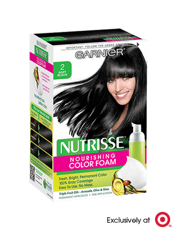 Garnier Nutrisse Nourishing Color Foam 2 - Soft Black Permanent Hair Color