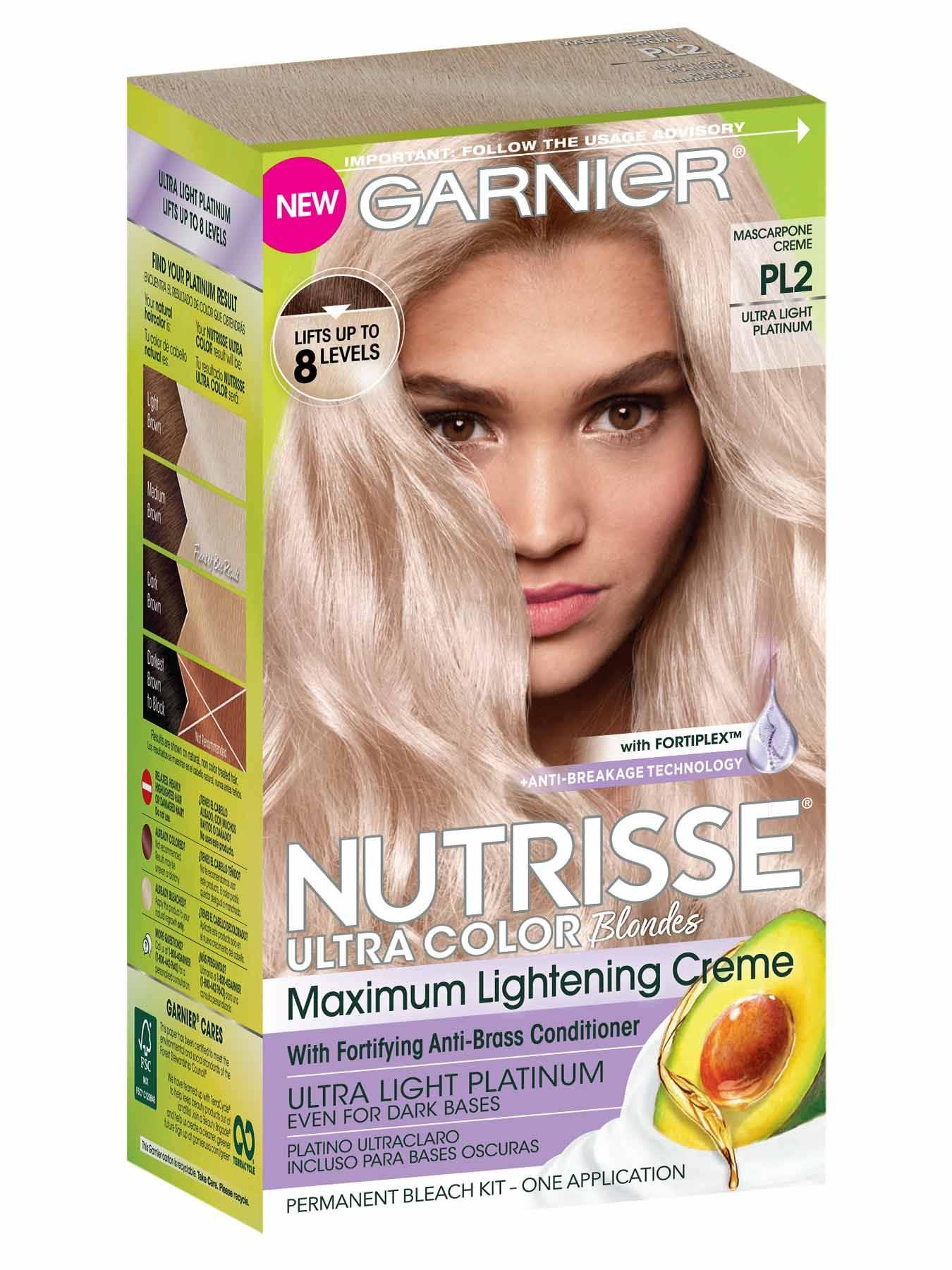 Nutrisse Ultra Color Ultra Light Platinum Hair Color Garnier